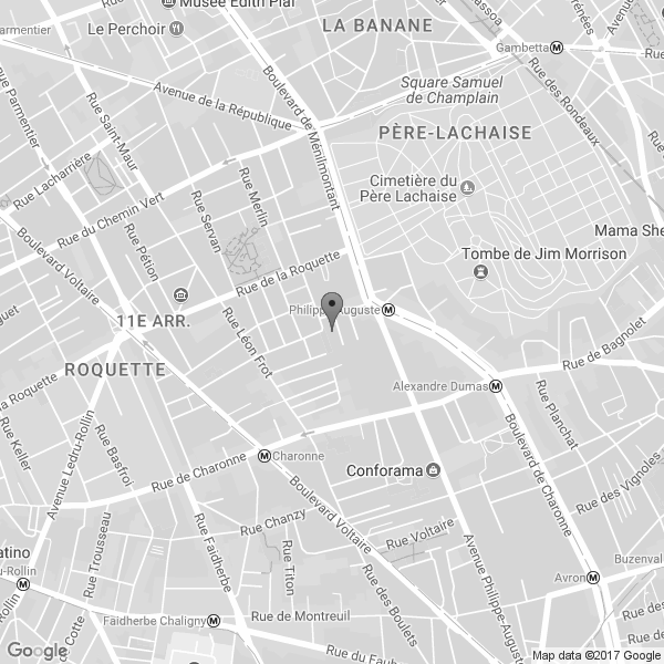 Google Map : Ateliers Varan, 6 Impasse de Mont-Louis, Paris